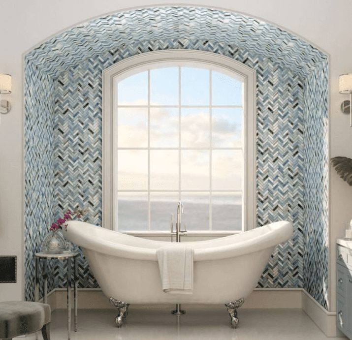 glass tile mosaic tile for kitchen or bathroom backsplash in Tacoma WA